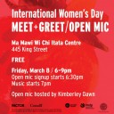International Women's Day Meet + Greet / Open Mic
