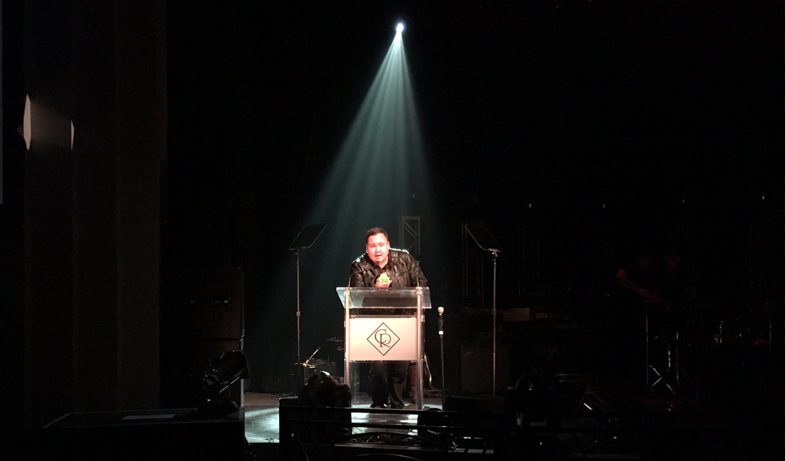 William Prince accepts his Western Canadian Music Awards in Regina on October 13