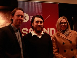 From left: Sean McManus, JP Hoe, Minister Rochelle Squires (Photo: Laurie Brand)