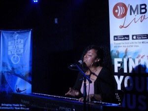 Marisolle Negash hosts Open Mic Night at The Handsome Daughter, October 2017