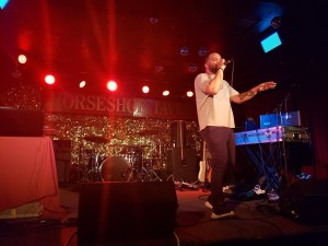Malcolm-Jay at the 2018 Manitoba Music Export showcase in Toronto